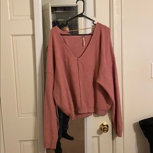 Free People Pink Slouchy Sweater